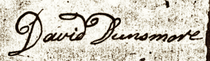 Dinsmore, David, Signature to Loyalist Affidavit
