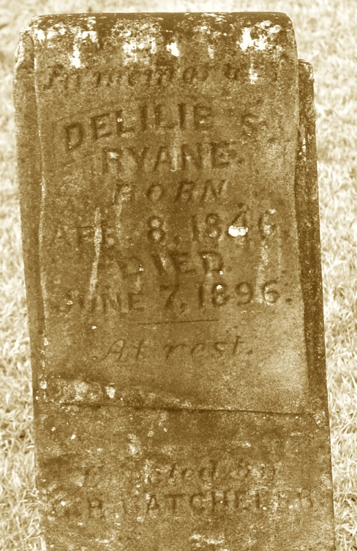 Ryan, Delilah Rinehart Tombstone, Orion Cem., Grant Co., AR