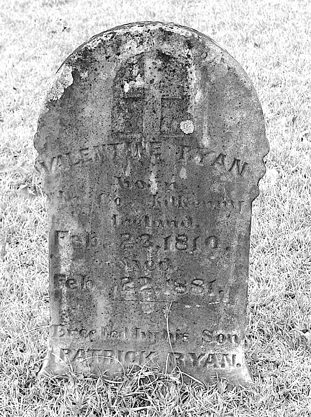 Ryan, Valentine Tombstone, Orion Cem., Grant Co., AR copy