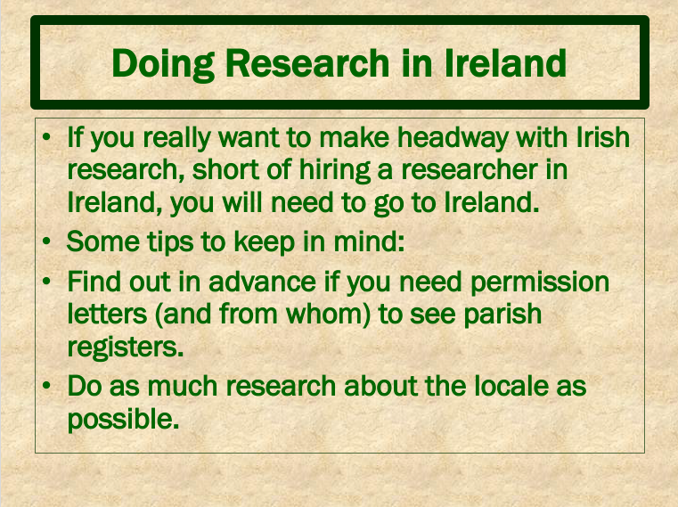 Doing Research in Ireland 1