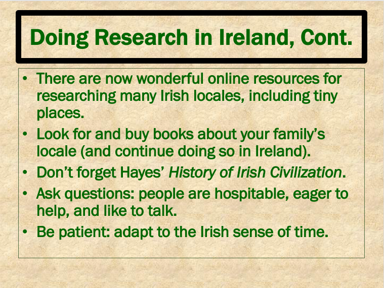 Doing Research in Ireland 3