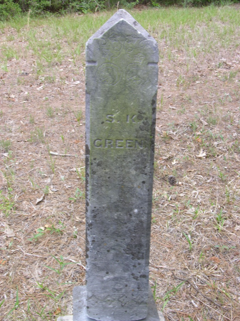 Green, Samuel Kerr Tombstone, Green Cem., Waller Co., Texas (2)