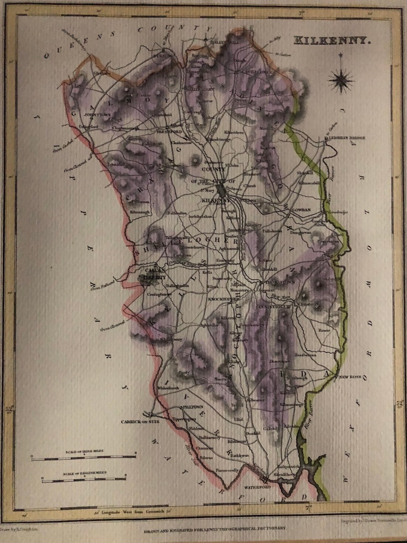 Kilkenny Map, Lewis' Topographical Dictionary of Ireland
