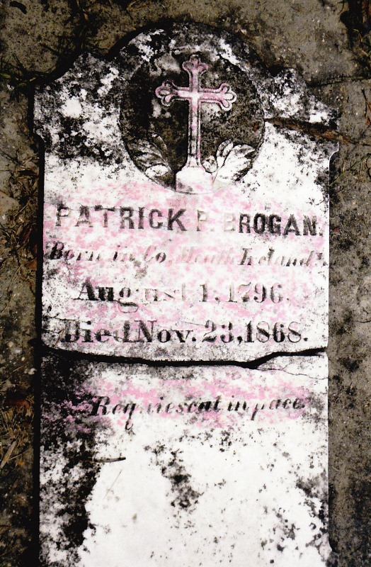 Patrick Brogan Tombstone, St. Michael's Jasper Co., MS