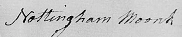Nottingham Monk signature, 26 July 1795 allottment to Mary Kittrell of her dower in estate of George Kittrell