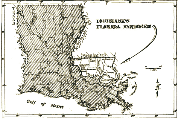Florida Parishes Map, Louisiana Folklife Program