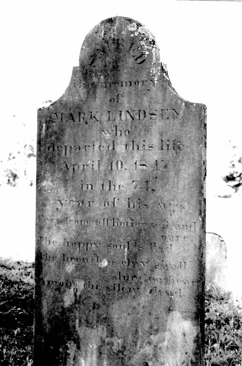 Mark Lindsey Tombstone