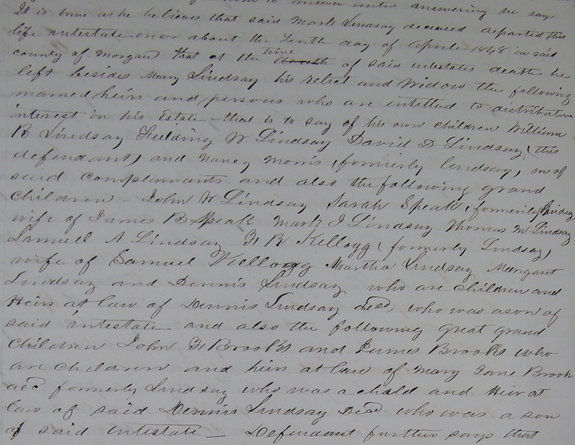 Morgan County Chancery Court Minutes Bk. 1843-1855 , p. 535