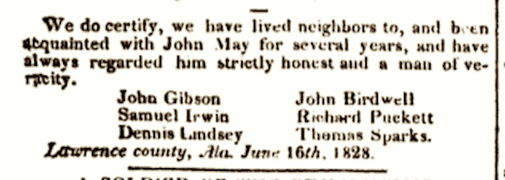 Lindsey, Dennis, Niles' Register, 34 (25 August 1828), The Case of John Harris, 419-423
