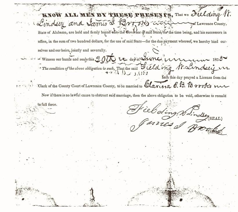 Lindsey, Fielding Wesley Marriage Bond (1)